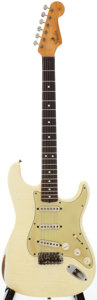 Musical Instruments:Electric Guitars, 1965 Fender Stratocaster Re-Finished White Solid Body Electric Guitar, Serial # L35861....