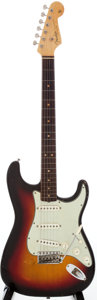 Musical Instruments:Electric Guitars, 1964 Fender Stratocaster Sunburst Solid Body Electric Guitar,Serial # L16486....