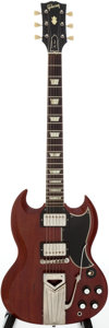 Musical Instruments:Electric Guitars, 1961 Gibson Les Paul Cherry Solid Body Electric Guitar, Serial #2180...
