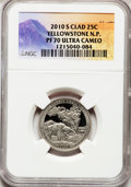Proof National Parks Quarters, 2010-S 25C Yellowstone National Park Clad PR70 Ultra Cameo NGC. NGCCensus: (0). PCGS Population (324). (#418831)...