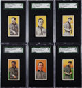 Baseball Cards:Singles (Pre-1930), 1909-11 T206 Chicago Cubs HoFers (6) - Each a Missing Color &Final Card Pairing. ...