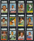 Baseball Cards:Sets, 1954 Bowman Baseball High Grade Near Set (207/224). ...