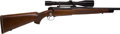 Long Guns:Bolt Action, 300 H&H Magnum Pre-64 Winchester Model 70 Super Grade BoltAction Rifle with Scope.. ...