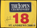 Golf Collectibles:Autographs, Tiger Woods Signed Upper Deck Authenticated 2000 The OpenChampionship Flag....