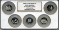 Proof Statehood Quarters, 2008-S 25C Set of Five Statehood Quarters Clad PR69 Deep Cameo NGC.This Set Includes: Oklahoma, New Mexico, Arizona, A... (Total: 5coins)
