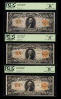 Large Size:Gold Certificates, Five Consecutive Fr. 1187 $20 1922 Gold Certificates PCGS Very Fine30-Apparent Extremely Fine 40.. ... (Total: 5 notes)