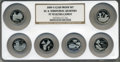 Proof Statehood Quarters, 2009-S 25C Clad Proof Set of Six DC & Territorial Quarters PR70 Ultra Cameo NGC. This Set Includes: District of Columbia, ... (Total: 6 coins)
