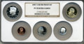 Proof Sets, 2007-S Silver Proof Set PR70 Ultra Cameo NGC. This set includes:Lincoln Cent, Monticello Nickel, Roosevelt Dime, Kennedy Ha...(Total: 5 coins)