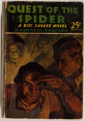 Books:Science Fiction & Fantasy, [Doc Savage]. Kenneth Robeson. Quest of the Spider. New York: Street & Smith, [1933]. First edition, first printing....