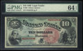 Large Size:Legal Tender Notes, Fr. 96 $10 1869 Legal Tender PMG Choice Uncirculated 64 EPQ.. ...