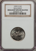 Statehood Quarters, 1999-D 25C New Jersey Brilliant Uncirculated NGC. NGC Census:(0/1049). PCGS Population (0/1976). Numismedia Wsl. Price fo...