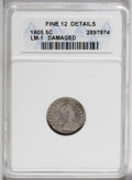 Early Half Dimes: , 1805 H10C --Damaged--ANACS. Fine 12 Details. V-1, LM-1, R.4. Amoderately worn dove-gray piece that has hints of gold on eac...