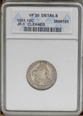Early Dimes: , 1801 10C --Cleaned--ANACS. VF20 Details. JR-1, R.4. Thepeach-accented blue-gray surfaces have largely retoned from a pastc...