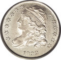 Bust Dimes: , 1832 10C MS64 PCGS. JR-5, R.2. Stars 12 and 13 are widely spaced,and the digit 3 in the date leans left. One point of star...