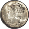 Mercury Dimes: , 1927-D 10C MS65 Full Bands PCGS. The central obverse and reversemotifs of this Gem are sharply defined with slight weaknes...