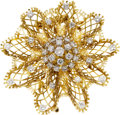 Estate Jewelry:Brooches - Pins, Diamond, Platinum, Gold Brooch, Van Cleef & Arpels. ...