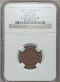 Civil War Merchants, 1863 W.W. Whitlark, Detroit, MI, F-225CM-2a, R.8 MS61 Brown NGC..From The Clifton A. Temple Collection....