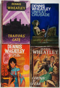 Books:Mystery & Detective Fiction, Dennis Wheatley. SIGNED. Lot of Four Mystery Novels, Three of Whichare Inscribed, including. Curtain of Fear, Traitor's... (Total:4 Items)