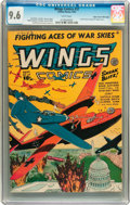 Golden Age (1938-1955):War, Wings Comics #37 Mile High pedigree (Fiction House, 1943) CGC NM+9.6 White pages....
