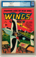 Golden Age (1938-1955):War, Wings Comics #38 Double Cover (Fiction House, 1943) CGC NM 9.4Off-white pages....