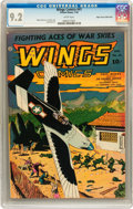 Golden Age (1938-1955):War, Wings Comics #41 Mile High pedigree (Fiction House, 1944) CGC NM-9.2 White pages....