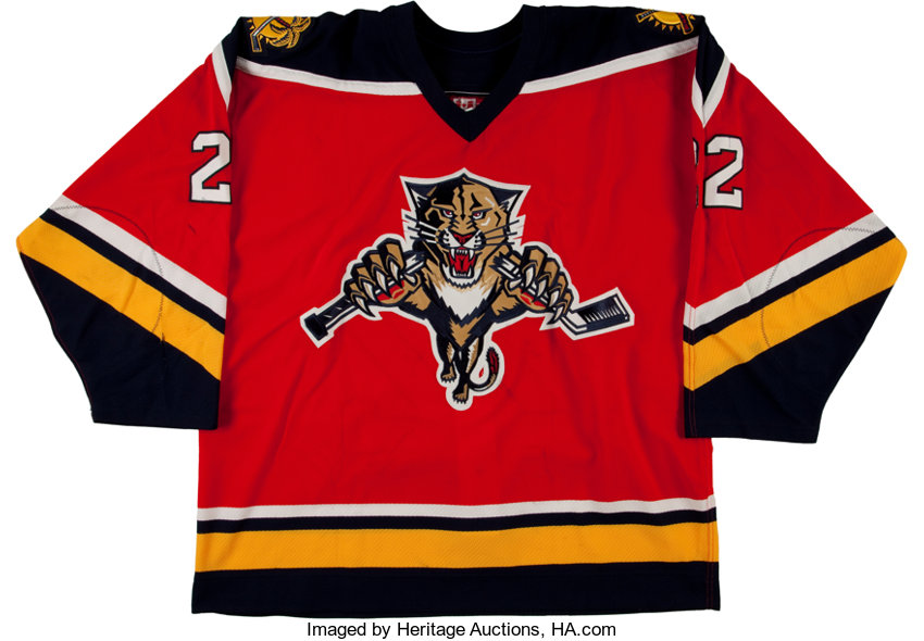 on sale ee94d 27ad7 2003-04 Kristian Huselius Game Worn Florida Panthers Jersey ...