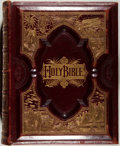 Books:Religion & Theology, [Bible in English]. The Holy Bible Containing the Old and New Testaments... Philadelphia: Ziegler, [n.d., ca. 1890]....