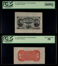 Fractional Currency:Third Issue, Fr. 1275SP 15¢ Third Issue Face Specimen PCGS Choice About New 58PPQ and Fr. 1276SP 15¢ Third Issue Red Back Specimen PCGS Cho... (Total: 2 notes)