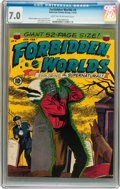 Golden Age (1938-1955):Horror, Forbidden Worlds #4 (ACG, 1952) CGC FN/VF 7.0 Light tan tooff-white pages....