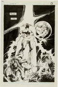 Original Comic Art:Splash Pages, Gene Colan and Steve Mitchell Silverblade #4 Page 13Original Art (DC, 1987)....
