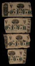 Obsoletes By State:Louisiana, Natchitoches, LA- V. Durand $5 Apr. 27, 1862 Four Examples. ... (Total: 4 notes)