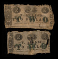 Obsoletes By State:Louisiana, Natchitoches, LA- V. Durand $2 Apr. 27 & 29, 1862 Two Examples. ... (Total: 2 notes)