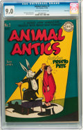 Golden Age (1938-1955):Funny Animal, Animal Antics #1 Carson City pedigree (DC, 1946) CGC VF/NM 9.0Off-white to white pages....