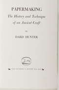 Books:Books about Books, [Books about Books]. Dard Hunter. Papermaking. TheHistory and Technique of an Ancient Craft. New York: Knopf,1...