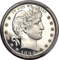Proof Barber Quarters, 1892 25C PR67 Deep Cameo PCGS. CAC....