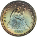 Proof Seated Quarters: , 1888 25C PR67 NGC. Because of the limited mintage of P-mintbusiness strikes from 1879 to 1890, extra demand pressure is ex...