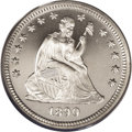 Proof Seated Quarters: , 1890 25C PR66 Cameo PCGS. Icy devices confirm the Cameodesignation, and post-strike contact is invisible to the unaidedey...
