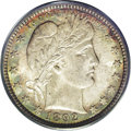 Barber Quarters: , 1892-O 25C MS66 PCGS. Type Two Reverse. Typically sharp for thisfirst-year New Orleans issue, although a couple of the obv...