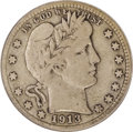 Barber Quarters: , 1913-S 25C Fine 12 ANACS. With only 40,000 examples produced, the1913-S quarter has the lowest mintage of any regular issu...