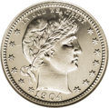 Proof Barber Quarters: , 1904 25C PR67 NGC. Slightly better as a proof and rated 9th out of the 24 in terms of mintage. Only 670 pieces were struck ...