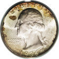 Washington Quarters: , 1936-D 25C MS67 PCGS. The 1936-D Washington quarter is third inline for rarity behind only the 1932-D and 1932-S issues. M...