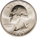 Washington Quarters: , 1943-S 25C Doubled Die Obverse MS65 PCGS. FS-017. Bold doubling isvisible on LIBERTY, IN GOD WE TRUST, the date, and the p...