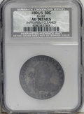 Early Half Dollars: , 1806/5 50C --Improperly Cleaned--NCS. AU Details. O-101, R.3. Anicely struck piece that has largely retoned in pewter-gray ...