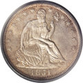 Seated Half Dollars: , 1851-O 50C MS65 PCGS. An interesting and lovely Gem of this issue,made to the extent of only 402,000 pieces. The last 1 in...
