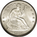Seated Half Dollars: , 1884 50C MS66 PCGS. WB-102. The P-mint Seated halves from 1879 to1890 have tiny mintages, as series specialists can attest...