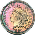 Proof Indian Cents, 1864 1C Bronze No L PR65+ ★ Red and Brown NGC....