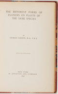 Books:Natural History Books & Prints, Charles Darwin. The Different Forms of Flowers on Plants of the Same Species. New York: Appleton, 1896. American...