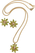 Estate Jewelry:Suites, Peridot, Diamond, Gold Jewelry Suite, Asprey. ...