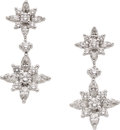 Estate Jewelry:Earrings, Diamond, Platinum Earrings, Kwiat. ...