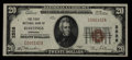 National Bank Notes:Nebraska, Hastings, NE - $20 1929 Ty. 1 The First NB Ch. # 2528. ...